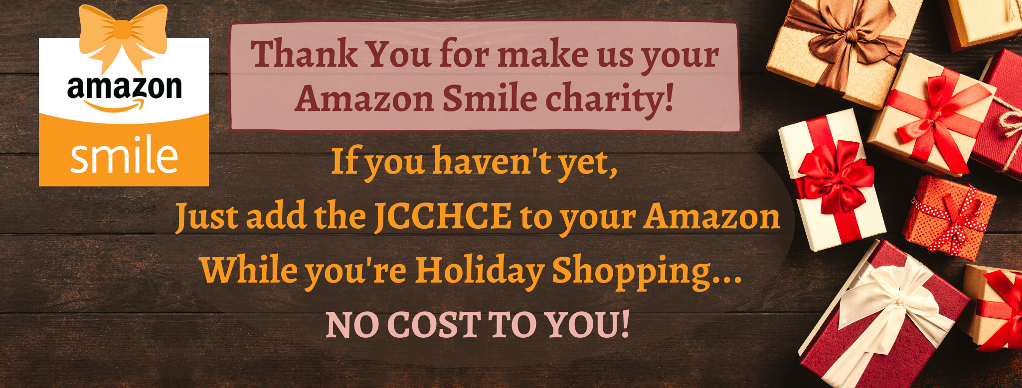 Make sure we are your Amazon Smile charity! (2)